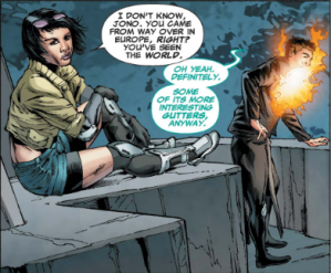 X-Men Legacy 245 - Jubilee and Chamber chat