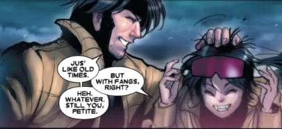 X-23 11 - Jubilee and Gambit like old times
