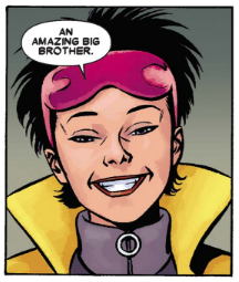 Wolverine v4 16 - Jubilee describes Wolverine