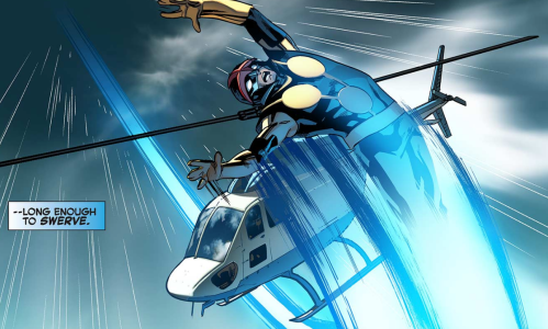 Avengers vs X-Men-Infinite 1 - Nova dodges helicopter