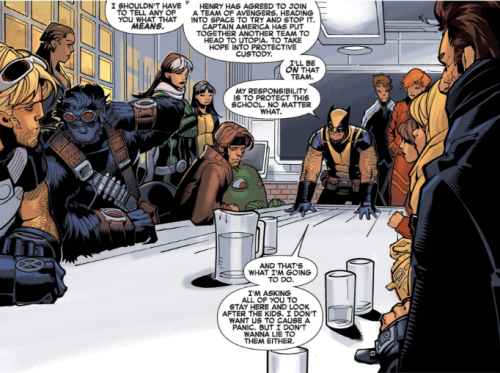 Wolverine and the X-Men 9 - Chamber attends meeting