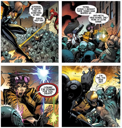 Wolverine v6 3 - Jubilee and anti-metal virus bombs