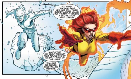 Amazing X-Men v2 7 - Firestar and Iceman follow Spider-Man