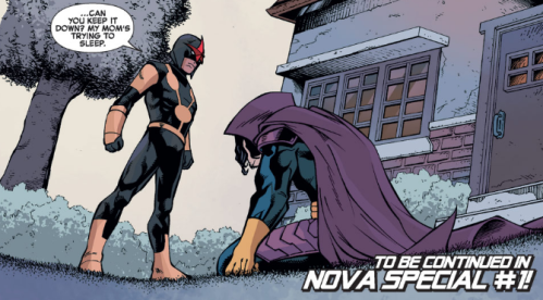Iron Man Special 1 - Nova trying to keep it quiet