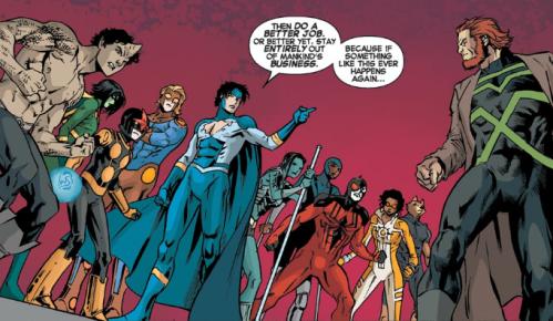 New Warriors v5 12 - Justice warns Eternals